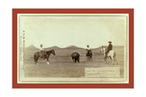 Cowboys  Roping a Buffalo on the Plains