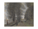 Ville D'Avray  Woodland Path Bordering the Pond  1872