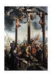Triptych of the Crucifixion  1535  by Jan Van Scorel (1495-1562) Netherlands