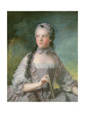 Portrait of Adelaide De France (1732-1800) with a Fan  1749