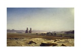 View of Plain of Thebes (Upper Egypt)  1857