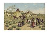 Sioux Encampment  Porcupine  1910