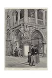 The Doge's Palace  Venice  Angle Decorative Sculpture  The Judgement of Solomon