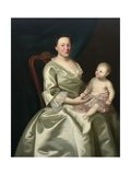 Portrait of Mrs Daniel Rea and Child  1757