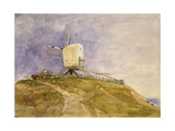 Windmill on a Hill  19th Century