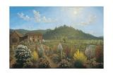 A View of the Artist's House and Garden  in Mills Plains  Van Diemen's Land  1835