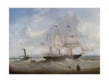 The Sailing Ship 'Anne' Leaving the River Tyne  1859