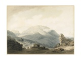 Mount Parnassus from the Road Between Livadia and Delphi  C 1790