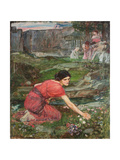 A Study: Maidens Picking Flowers by a Stream  C 1909-1914