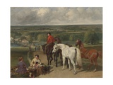 Exercising the Royal Horses  1847-55