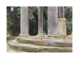 A View Between the Columns of a Tempietto (Watercolour and Touches of Bodycolour over Indications i