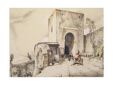 Gate of Justice (Puerta De Justitia)  from 'Sketches and Drawings of the Alhambra'  1835