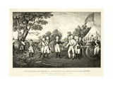 Surrender of General Burgoyne at Saratoga  NY  October 17th 1777  Pub N Currier  1852
