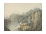 Tivoli with the Temple of the Sibyl and the Cascades  C1796-97
