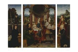 The Holy Family  Ca 1530  by Joos Van Cleve (1485-1540)  Triptych Belgium  16th Century