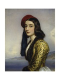 Portrait of Khatarina Botzaris  1841