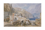 Combe Martin  Devonshire  C1824 (Watercolour over Graphite with Pen and Black Ink)