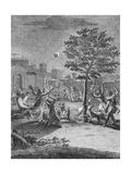 Eclipse of the Moon  from 'Voyage Historique De L'Amerique Meridionale'  Pub 1752