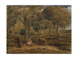 Landscape with Family Group  Possibly the Rest on the Flight into Egypt  C1827