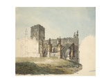 The Ruined Abbey at Haddington  C 1794 (Watercolour over Graphite on Wove Paper)