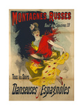 Poster Advertising 'Danseuses Espagnoles' at the Boulevard Des Capucines  Paris