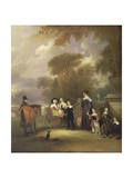 The Rev and Mrs Henry Palmer with their Six Younger Children at Withcote Hall