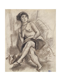 Seated Nude Model  C1925-26