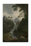 A Waterfall with Bathers  C1800-17