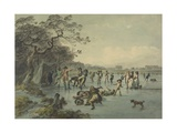 Skating in Hyde Park  C1785