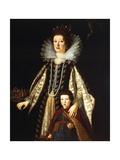 Portrait of Archduchess Maria Maddalena of Austria with Her Son Ferdinand Ii  1622-23