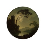 Lake with Castle on a Hill  1787