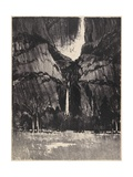 The Lower Falls  Yosemite  1912