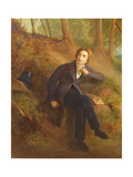 Detail of Keats Listening to the Nightingale on Hampstead Heath  1845 (See also 145174)