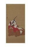 Nikuhitsu Ukiyo-E: Ichikawa Danjuro V in the Shibaraku Role  C 1778