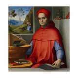 Portrait of a Cardinal in His Study  C1510-20 (Oil and Tempera on Poplar Panel)