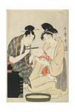 Shaving a Boy's Head  Edo Period  C1801