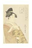 Courtesan Hanaogi of the Ogiya House  1793-1794