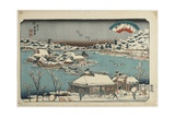 Evening Snow at Shinobugaoka  1843-1847