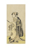 The Actor Onoe Matsusuke in a Female Role  1760-1780