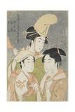 Asazuma-Bune  Fan-Seller  and Poetic Epithets  1793