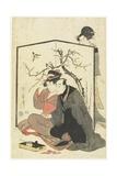 Man and Courtesan Smoking Pipes  C 1804