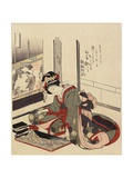 Woman Arranging Bonkei  1820-1834