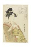 The Courtesan Hanaohi of the Ogiya House  C 1793-1794