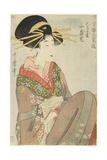 Courtesan Hitomoto of the Daimonjiya House  1801-1802