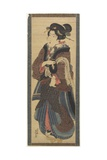 Waitress Holding a Black Lacquer Stand  Early 19th Century