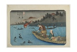 No55 Cormorant Fishing Boat at Nagae River Near Koto Station  1830-1844