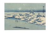 Island Village in Snow  C 1824-1848