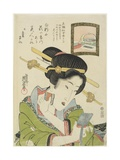 Woman Putting on Face Powder  1820-1822