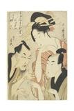 The Courtesan Agemaki  the Chivalrous Guy Sukeroku  Ikyu with Beard  1798-1800