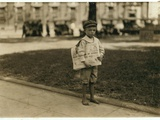 7 Year Old Newsboy Ferris in Mobile  Alabama  1914